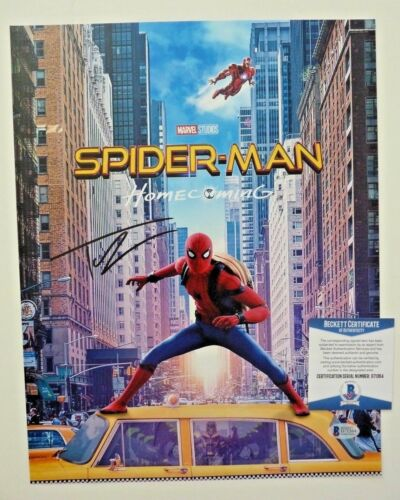 Tom Holland Autographed Signed 12x18 Spiderman Photo Beckett Certified F9