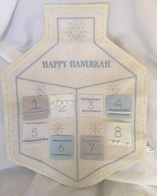 Pottery Barn Felt DREIDEL HANUKKAH COUNT DOWN CALENDAR 24 X 18 WALL HANGING NWT](Hanukkah Countdown)