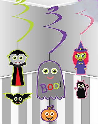12 x CHEAP Halloween hanging swirls party decorations witch vampire ghost - Halloween Party Decorations Cheap