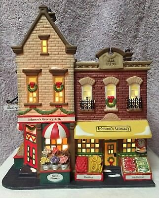"Dept 56-Christmas in the City-""Johnson's Grocery & Deli""-58886-NIB-Excellent"