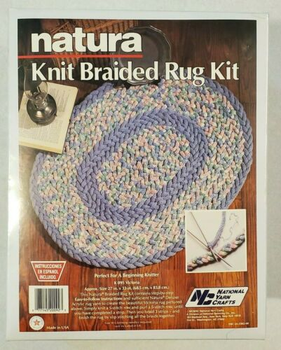 Braided Rug National Yarn Crafts Natura Knit Kit K095 Victoria Vintage 1990 NEW