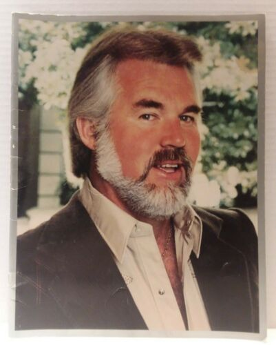 """Kenny Rogers Live in Concert Program Booklet 11"""" x 14"""" Color 28 pages + cover"""