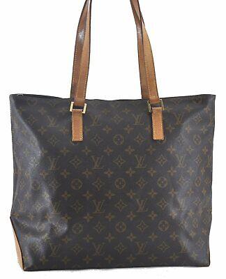 Authentic Louis Vuitton Monogram Cabas Mezzo Tote Bag M51151 LV B8778