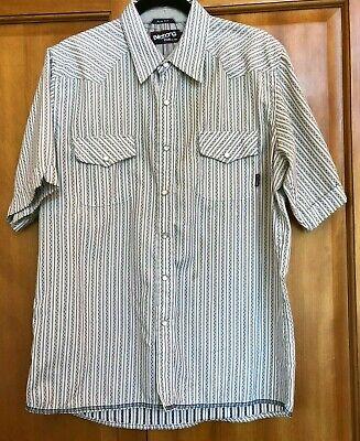 Billabong Pearl Snap Short Sleeve Shirt Men's Size L Large Slim Fit