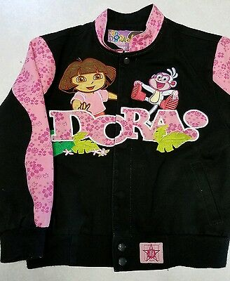 Dora explorer boots 5-6 small black pink nascar jacket in design Nick jr Dora Black Child Boots