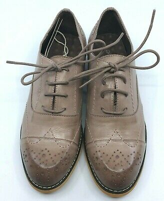 NEW MONA FLYING Women's Oxford Derby Saddle Shoes Size 6.5 US 37 UK Brown