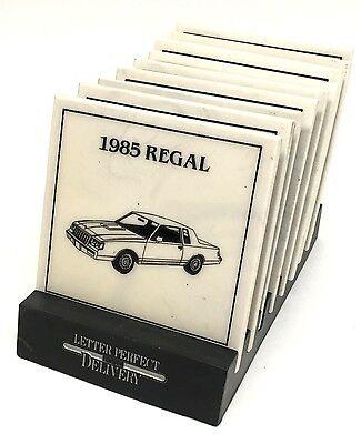 1985 Buick Coasters Line Complete Set 9 With Holder Dealer Showroom Promotion