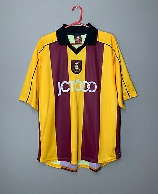 Bradford City 2001-2003 Home Football Shirt Vintage Soccer Jersey size M image