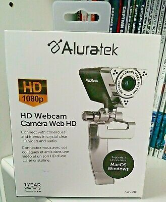 Aluratek AWC01F - NEW SEALED Web HD Camera - Color Video Conferencing 1920x1080
