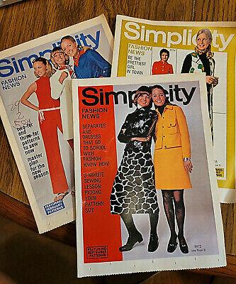 1969 1970 Lot of 3 Simplicity Fashion News Mini Mags Susan Dey Partridge Family