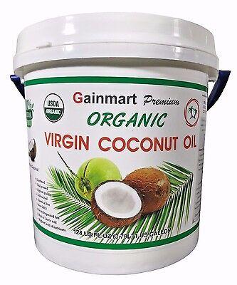 Gainmart Premium Organic Virgin Coconut Oil 100% Pure Highest Quality 1 Gallon