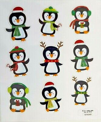 Penguins Christmas Cards Scrapbooking PS Stickers ()