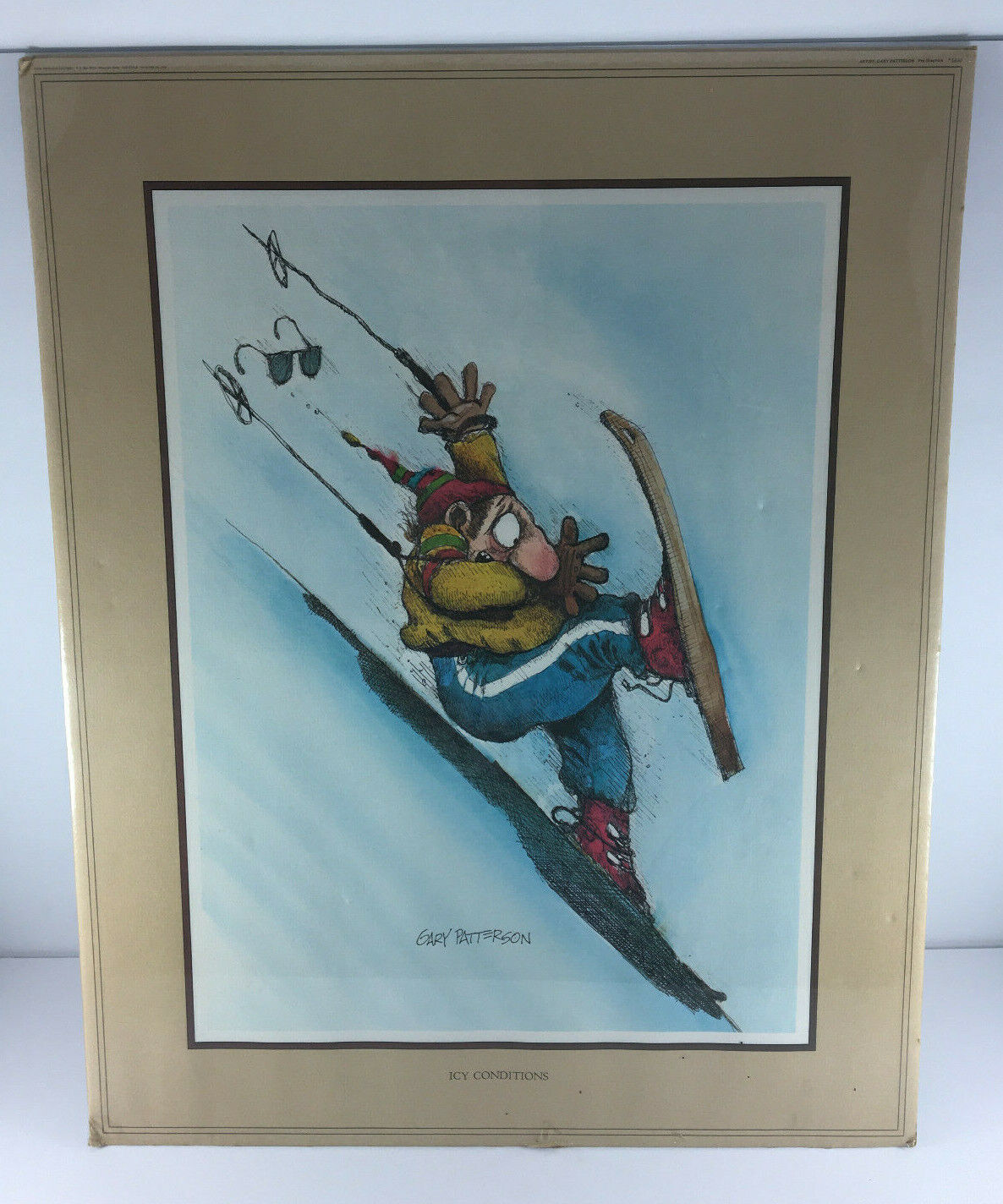 Vtg Gary Patterson 1978 ICY CONDITIONS 1650 Thought Factory Poster 20 x16 USA - $24.95