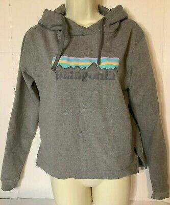 Patagonia Womens Uprisal Logo Hoody Pullover Size Small Gray