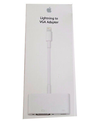Apple OEM Lightning to VGA Adapter for iPads iPhone iPod Touch Genuine MD825ZM/A