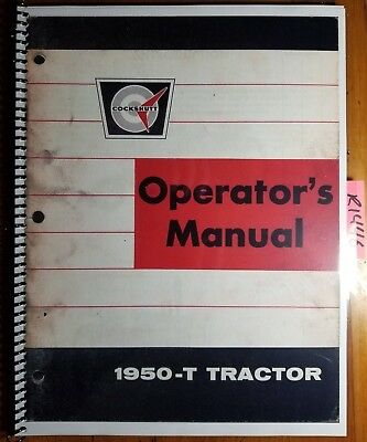 Oliver Cockshutt 1950-t 1950t Tractor Owners Operators Manual 432 103 867