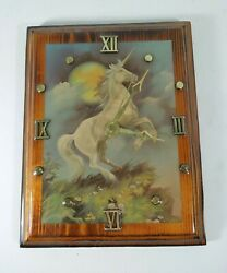 Vintage Unicorn Quartz Wall Clock 9 x 7