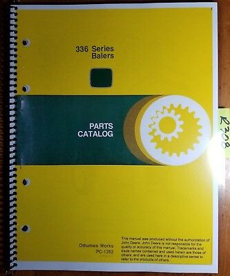 John Deere 336 Series Baler Parts Catalog Manual Pc-1282 378