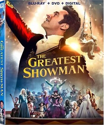 The Greatest Showman Blu Ray Dvd Digital Hd  New Unopened