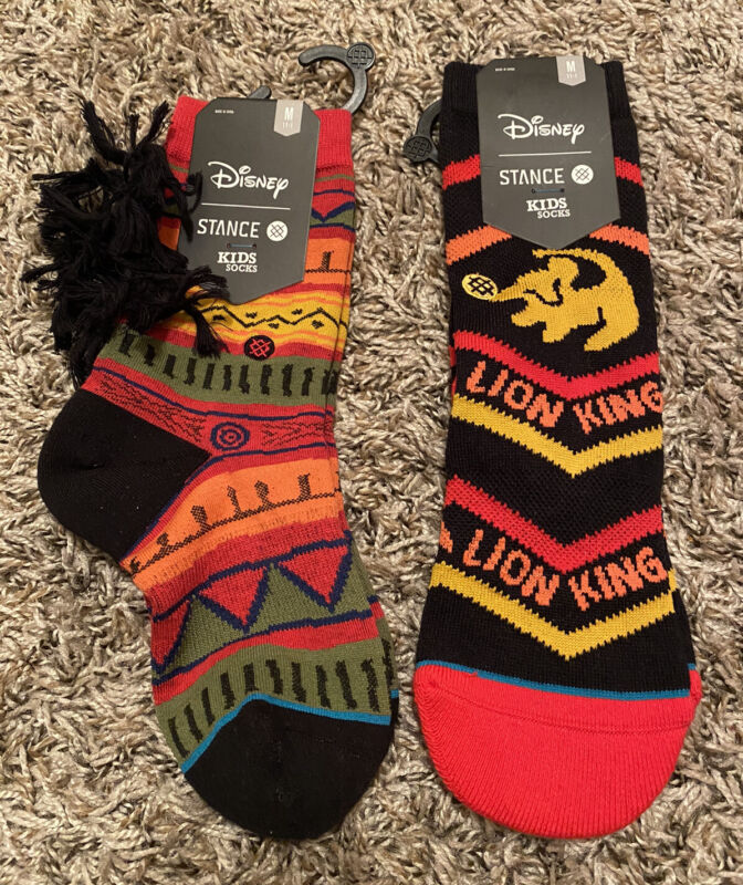 NEW Lot of 2 Stance Lion King Kids Youth Socks Simba Medium 11-1 FREE Shipping
