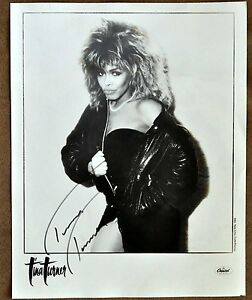 Original Tina Turner Hand Signed Photo