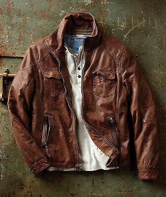 Carbon2Cobalt Zamora Leather Jacket Mens S L XL XXL Sizes NEW