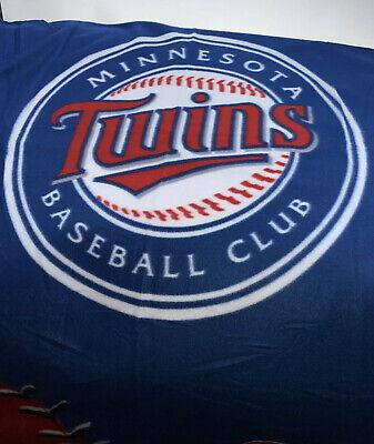 "Minnesota Twins MLB Insiders Club Licensed Baseball Plush Blanket Throw 46""X60"" Minnesota Twins Throw"