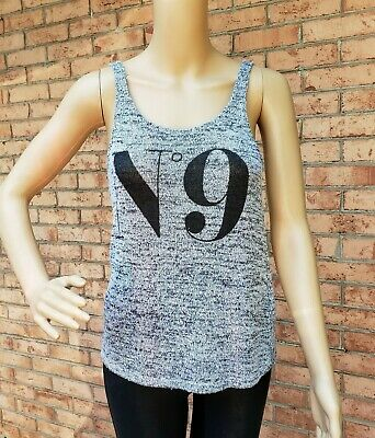 Divided by H&M sz xs Gray stretch  Tank Top with Chanel no 9 logo