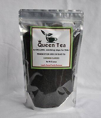 (PREMIUM CEYLON LOOSE LEAF BLACK TEA - Grade A - Cardomom Flavored.)