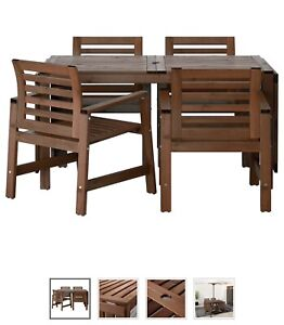 Outdoor dining set and umbrella