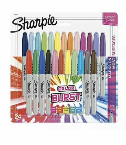 Sharpie Color Burst 1949557 Fine Point Markers 24ct Limited Ed. Assorted Colors