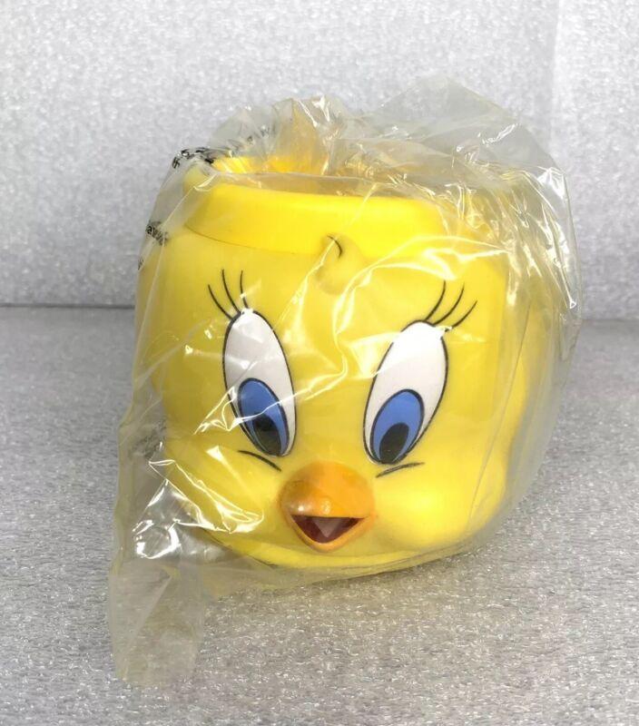 Vintage Tweety Bird 1993 Mug Warner Bros Looney Tunes Plastic Cup NEW! Last 3!!
