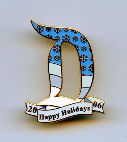 DLR Disney Winter Snowflakes Disneyland Letter D Christmas Cast Working Day Pin