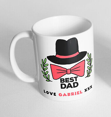 Personalised Best Dad Love Fathers Day Novelty Ceramic Cup Gift Tea Coffee