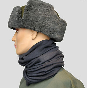 Genuine Unissued Czech Military Russian Army Looking Ushanka Fur Trooper Hat