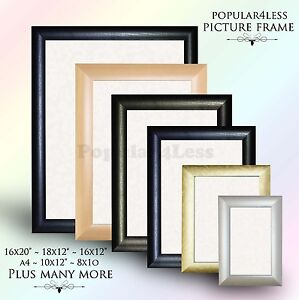 Picture-Frame-Photo-Frame-Poster-Frame-BLACK-PINE-MAHOGANY-SILVER-GOLD-Colour