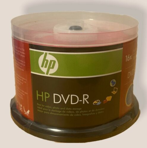 HP DVD-R Spindle 50 Pack 16X / 4.7GB / 120 Min Brand New Factory Sealed