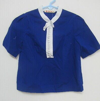 MARNI blue short sleeve top girls sz 8Y