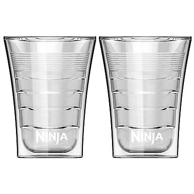 - Ninja 14 Oz Microwave Safe Plastic Double Insulated Cup for Coffee Bar (2 Pack)