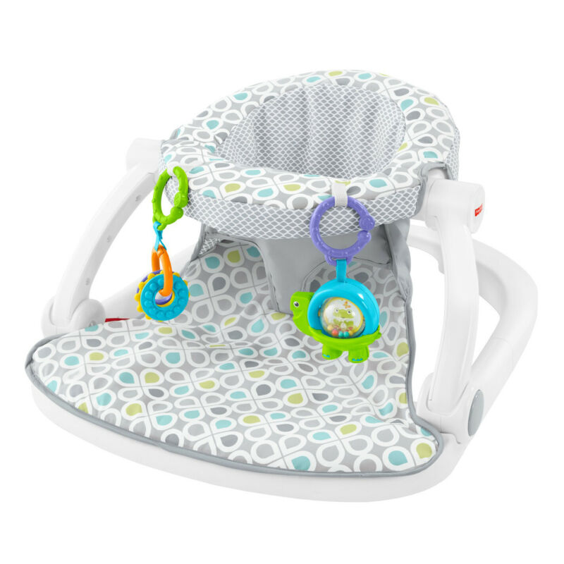 Fisher-Price Supportive Sit-Me-Up Comfy Interactive Floor Seat Infant Mat Toy