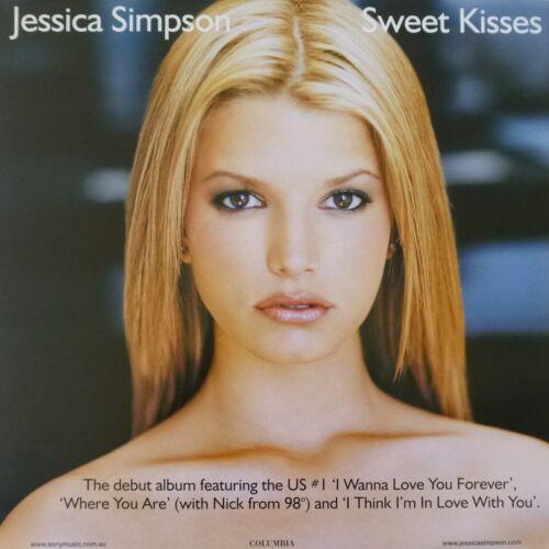 "JESSICA SIMPSON ""SWEET KISSES"" HONG KONG PROMO POSTER - Sweet & Innocent Girl!"
