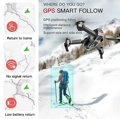 USA Stock New 2020 GPS Follow Me SG907 Drone Quadcopter 4K HD 2 Cams 3 Batteries