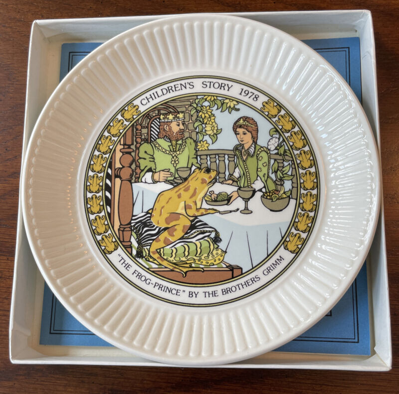 """Wedgwood Children's Story 6"""" Plate """"The Frog Prince"""" By The Brothers Grimm 1978"""