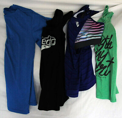 4 Womens Athletic Tops (FILA, Speedo, and More) Size M, Pre-Owned