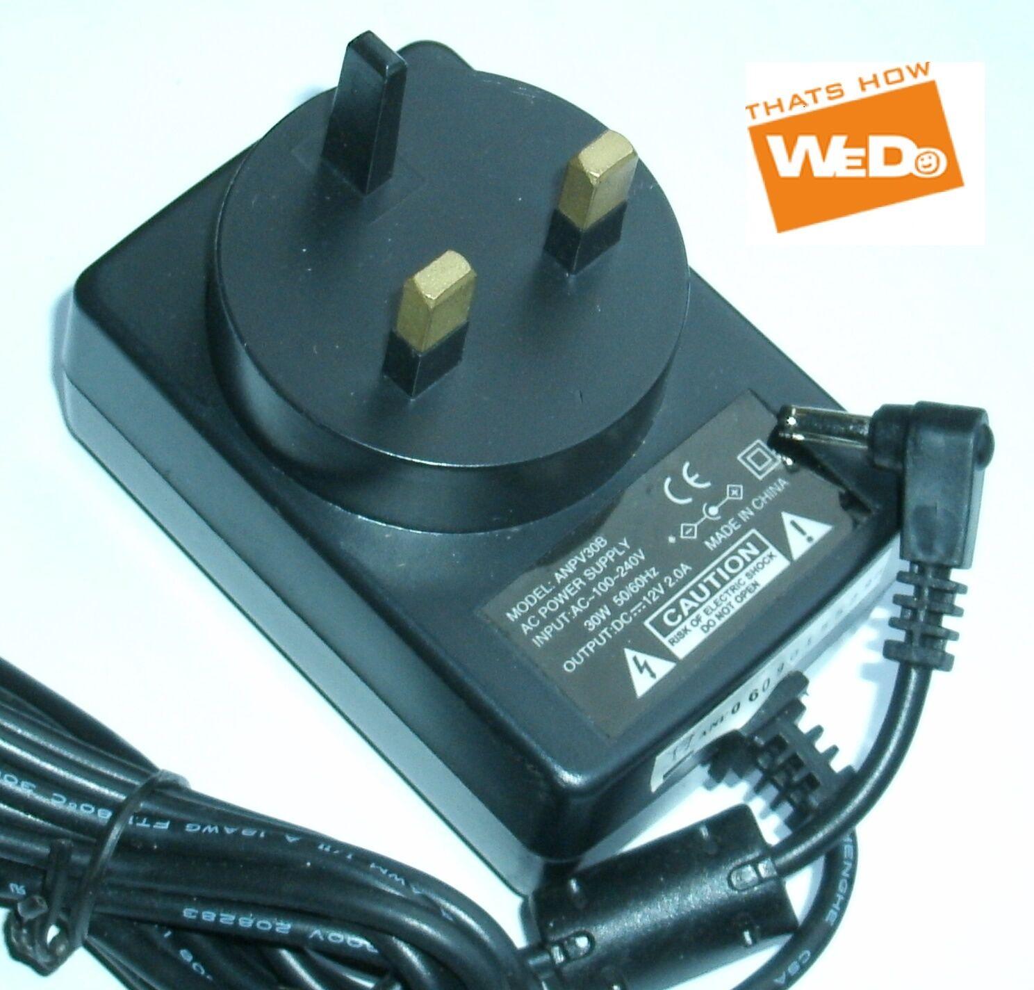 POWER SUPPLY ANPV30B DC 12V 2.0A UK PLUG [282395056990] - $15.99 ...