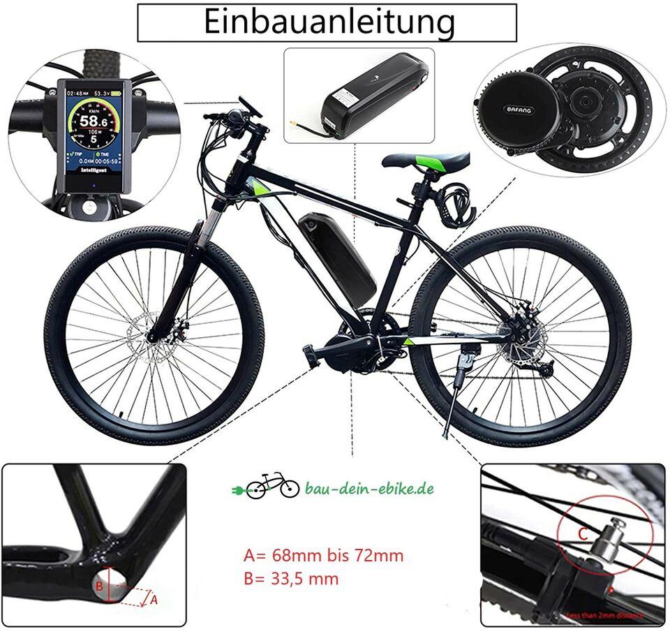BAFANG 36V/500W 100Nm Komplett Umbausatz e-Bike Akku 630Wh in Soest