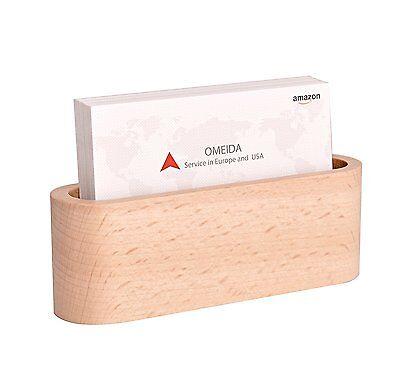 Beech Wood Business Card Holder For Desk Business Card Case