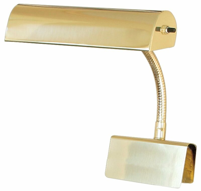 "House of Troy 10"" Brass Grand Piano Lamp Light GP10-61"