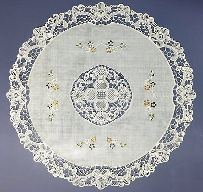 Round Vinyl Placemats (Set of 4 Table Placemats Round Vinyl Lace Placemats Non Skid 16