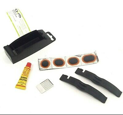 EVO Patch-N-Go Bicycle Tire/Tube Flat Puncture Repair Kit w/ Levers